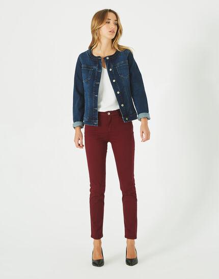 Uma denim jacket with braided collar PhotoZ | 1-2-3