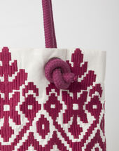 Pavel embroidered fuchsia bag dark fuchsia.
