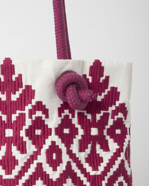 Pavel embroidered fuchsia bag (2) - 1-2-3