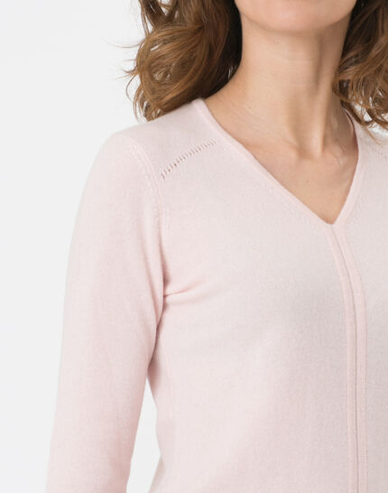 Heart pale pink cashmere sweater (5) - 1-2-3