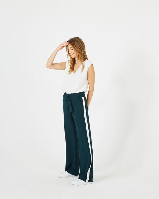 Pantalon vert foret fluide bande côté Kamelia (1) - 1-2-3