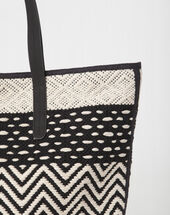 Polka black and white bag black/white.