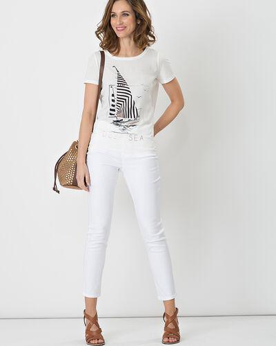 Nautile printed ecru T-shirt (2) - 1-2-3