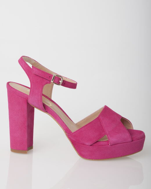 Jolie fuchsia leather sandals (2) - 1-2-3