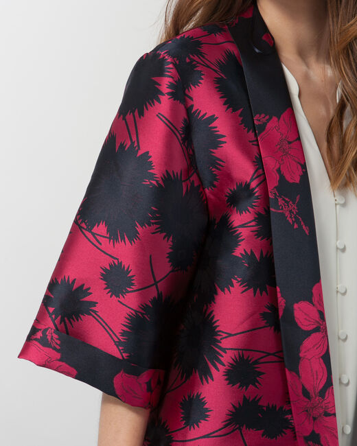 Kimono jacquard fuchsia Ursula (1) - 1-2-3