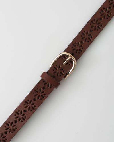 Yoko camel perforated leather belt (2) - 1-2-3