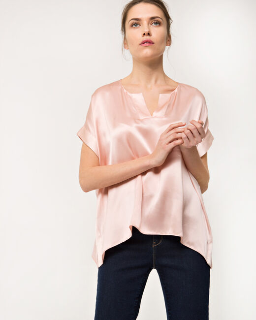 Tiger pale pink silk top (2) - 1-2-3