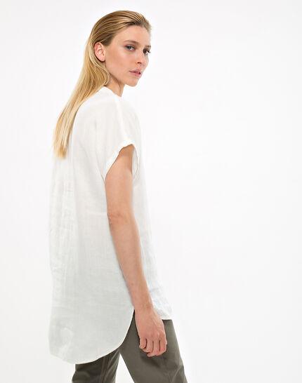Elsie ecru linen tunic (3) - 1-2-3