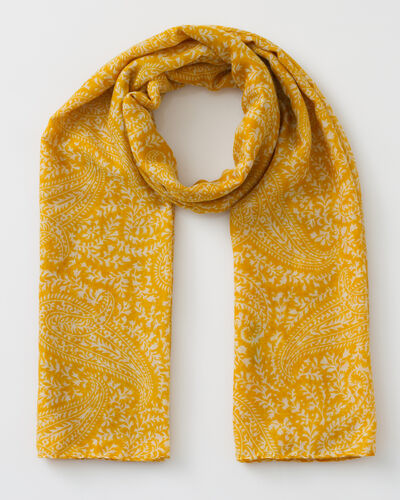 Foulard jaune imprimé Sun (1) - 1-2-3