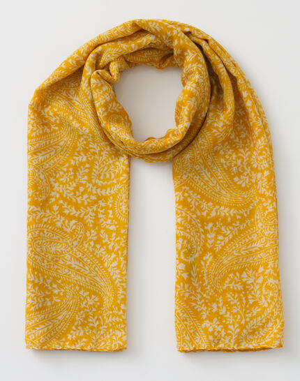Sun yellow printed scarf (2) - 1-2-3