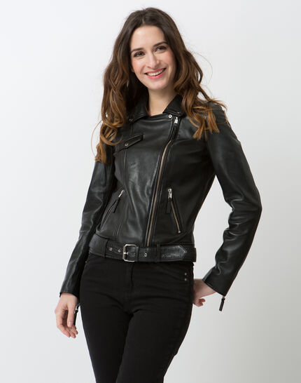 Gabriel black leather jacket (6) - 1-2-3