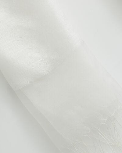 Maeva ecru silk stole (2) - 1-2-3