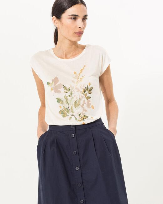 Tee-shirt écru imprimé Nerbier (2) - 1-2-3