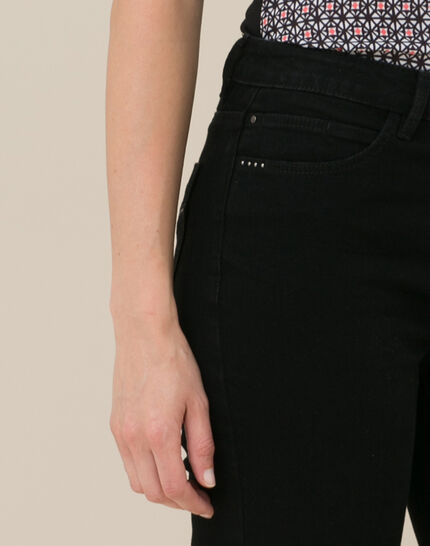 Oliver 7/8th length black jeans (2) - 1-2-3