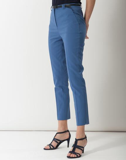 Pauline smart blue trousers with belt (6) - 1-2-3