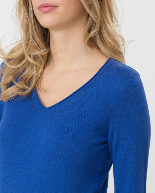 Honorine royal blue sweater with long sleeves (2) - 1-2-3