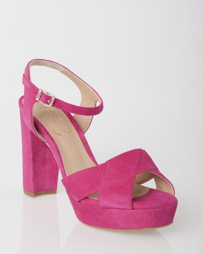 Sandales fuschia en cuir Jolie (1) - 1-2-3
