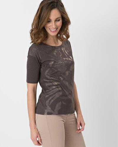 Neko brown T-shirt with safari print (2) - 1-2-3