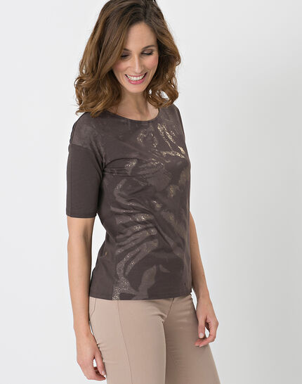 Neko brown T-shirt with safari print (2) - 1-2-3