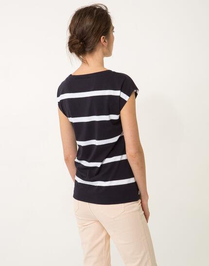 Tee-shirt rayé bleu marine Nil bis (6) - 1-2-3