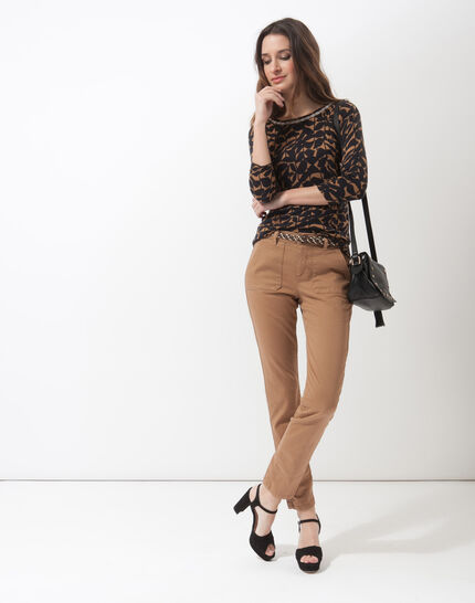 Denis 7/8 length camel trousers with large combat-style pockets (2) - 1-2-3