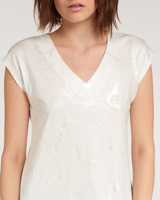 Nalma ecru T-shirt with flower print (2) - 1-2-3