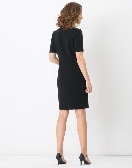 Bilbao black straight-cut dress (4) - 1-2-3