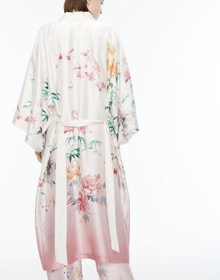 Kimono long rose imprimé Ukao (4) - 1-2-3