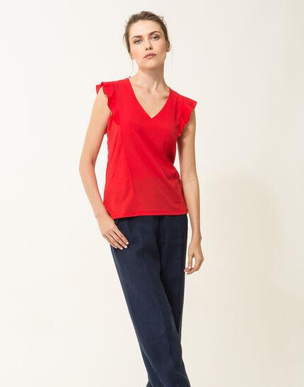 Tee-shirt rouge Nathalie (3) - 1-2-3