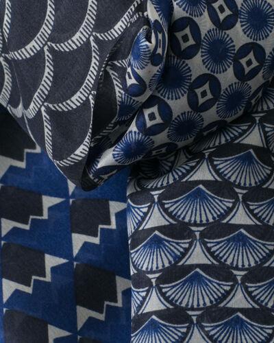 Foulard imprimé bleu marine Saphia (2) - 1-2-3