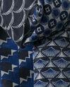 Saphia navy blue printed scarf (1) - 1-2-3