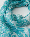 Scarlett turquoise silk printed scarf (1) - 1-2-3