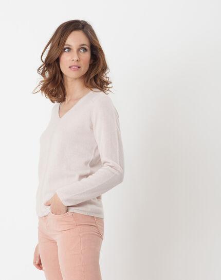 Heart powder pink cashmere sweater (3) - 1-2-3
