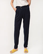 Douguy blue tapered trousers ink.