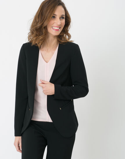 Maite black suit jacket PhotoZ   1-2-3