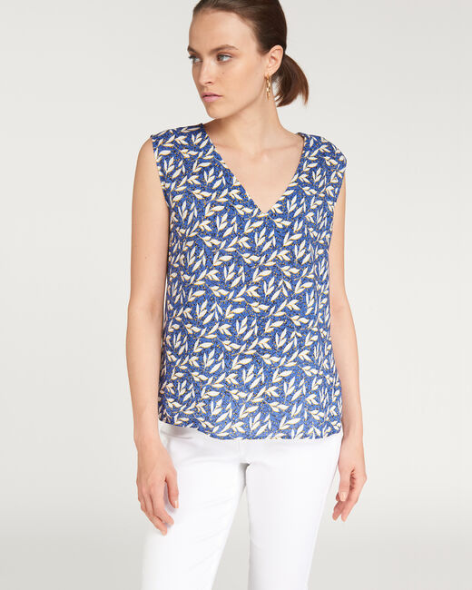 Ecume blue top with leaf print (1) - 1-2-3