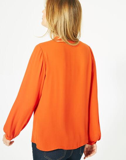 Blouse orange manches longues Doris (5) - 1-2-3