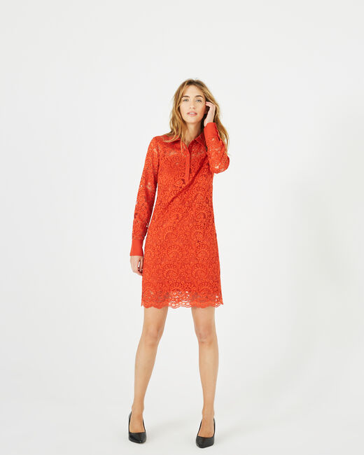 Amazone orange lace dress (2) - 1-2-3