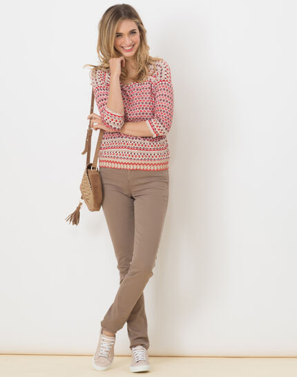 Hammam red printed sweater (2) - 1-2-3