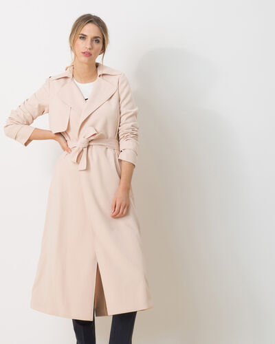Kool long pastel pink trench coat (2) - 1-2-3