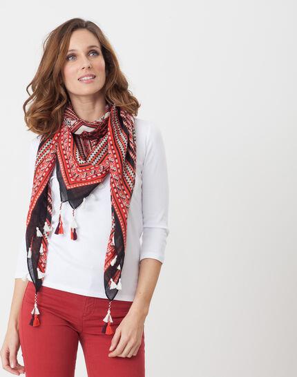 Noria white T-Shirt with embroidered neckline (4) - 1-2-3