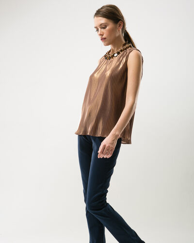 Erica pleated copper top (2) - 1-2-3
