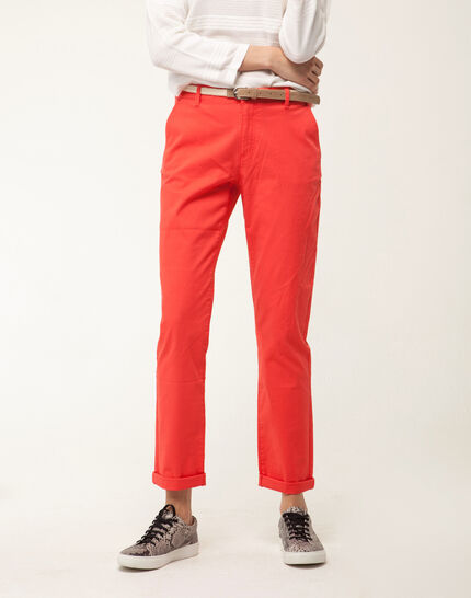 Francis orange 7/8 length trousers PhotoZ | 1-2-3