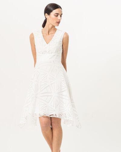 Robe blanche imprimée Brendy (1) - 1-2-3