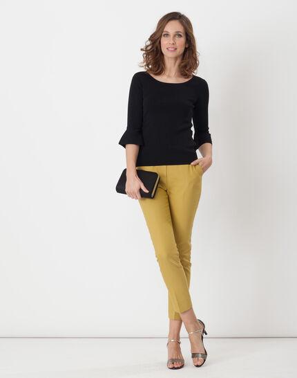 Hesmerelda black sweater with flared sleeves (3) - 1-2-3