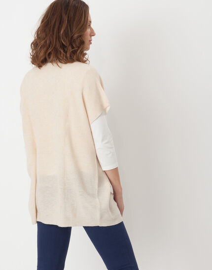 Himalaya beige cape-style cardigan (4) - 1-2-3