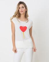 Namour printed t-shirt ecru.