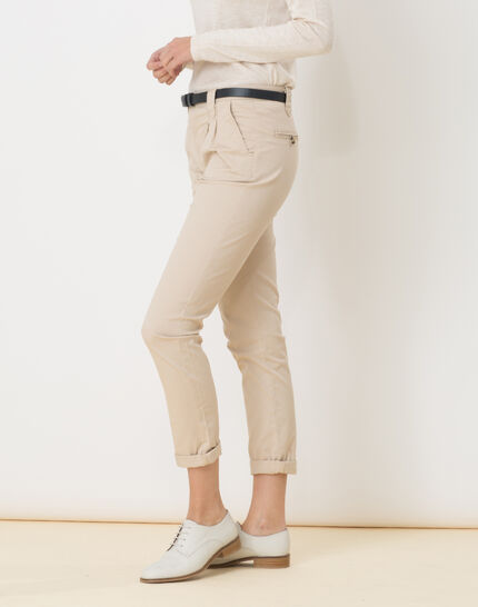 Diane tapered beige trousers with belt (3) - 1-2-3