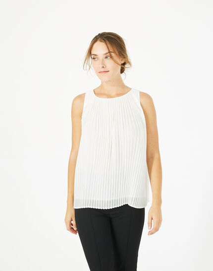 Erica pleated white top (3) - 1-2-3