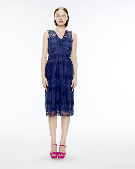 Fauve blue lace dress (1) - 1-2-3